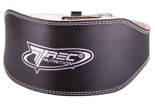 trec weight lifting leather belt wide accessories