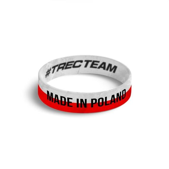 Trec - Wristband MADE IN POLAND - WHITE-RED