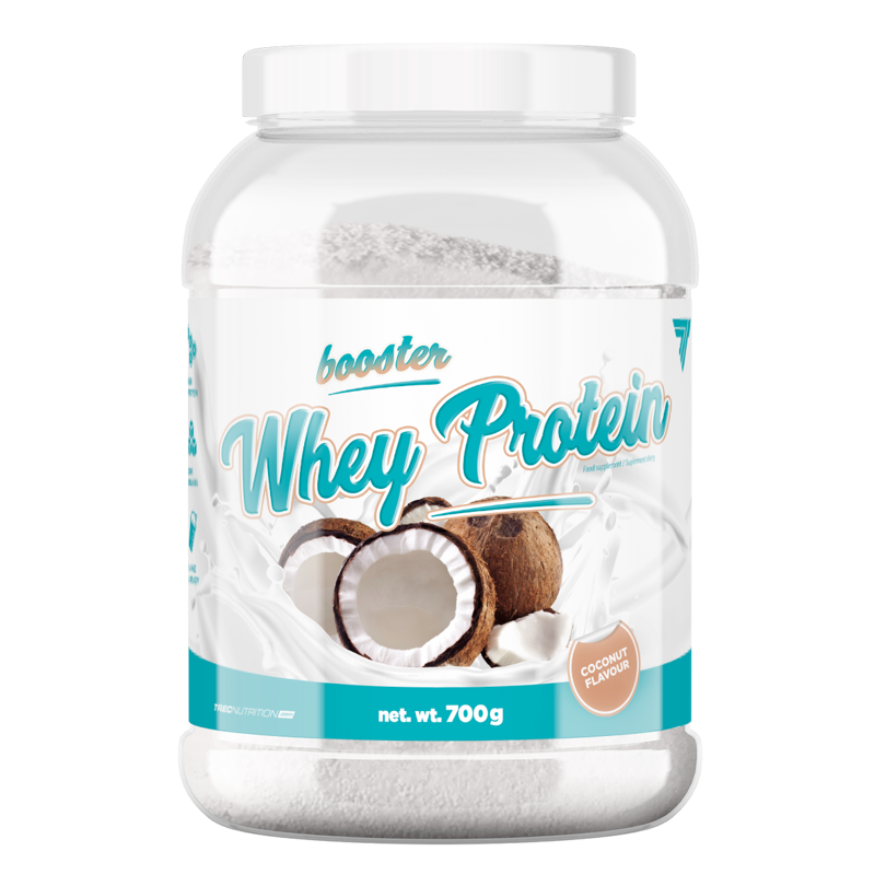 6004edc2117d Trec - Booster Whey Protein - 700 g - Coconut kokos
