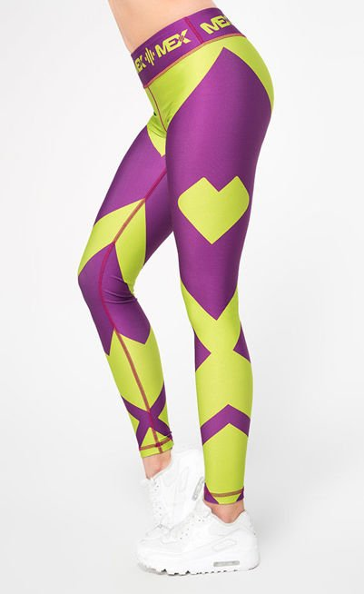 MEX - Legginsy damskie Fit Girl Purple
