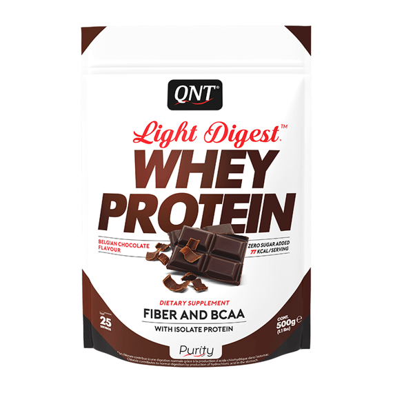 QNT - Light Digest Whey Protein - 500 g czekoladowy
