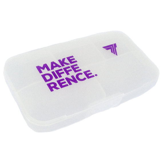 Trec - Pill Box MAKE  DIFFERENCE - TRANSPARENT