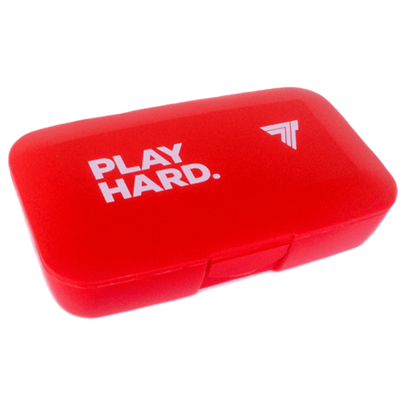 Trec - Pill Box PLAY HARD - RED